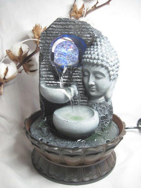 FONT4 Fontaine Zen Bouddha avec LED