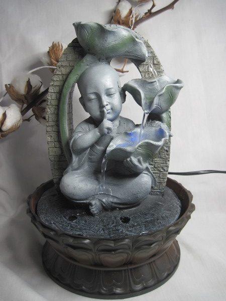 FONT5 Fontaine Zen Bouddha avec LED