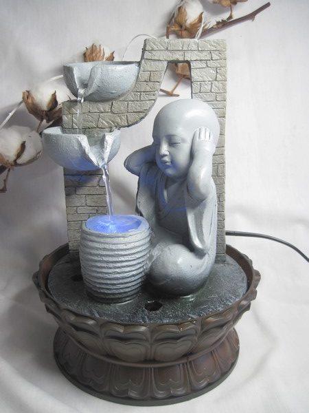 FONT6 Fontaine Zen Bouddha avec LED