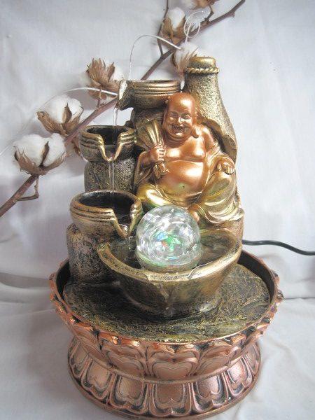 FONT8 Fontaine Zen Bouddha avec LED